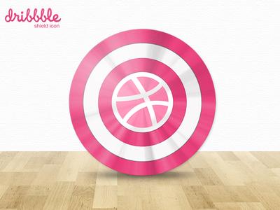 Dribbble Shield Icon