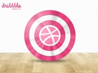 Dribbble Shield Icon