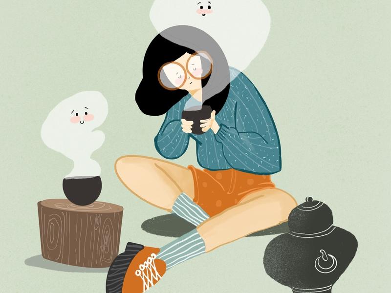 Eccentric Tea Maker bangalore daily illustration calm art digital illustrator tea illustration