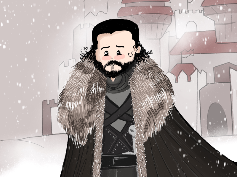 Jon Snow winter design daily illustration designer bangalore illustration illustrated got art game of thrones jon snow