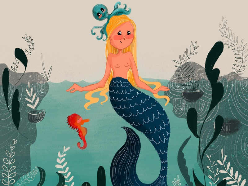 Mermaids are real? procreate aquatic art bangalore mermaid mermay illustration