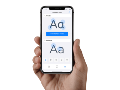 mob app to compare fonts