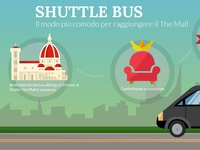 Infographic for shuttle bus