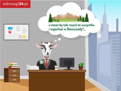 Cow in the office digital art illustation art vector infographic design infographic infografika drawing illustration