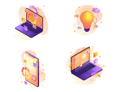 Isometric Icons icons set icons pack icon icons ui infografika infographic design infographic illustation art vector illustration