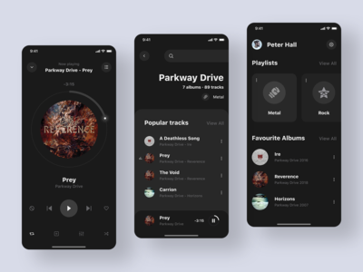 Music Player Dark Theme