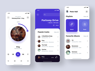 Music Player Light Theme ios playlists play player music player app album music player music app icon flat card ux ui design clean white app design app