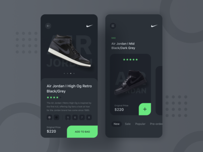 Nike Sneaker Shop UI