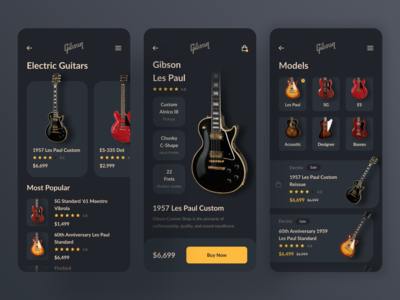 Mobile App for Gibson Guitars / Concept