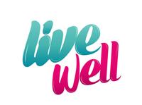 Live well logo magazine