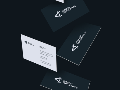 Business cards with new brand