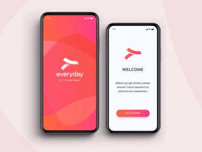 Fitness identity and UI / UX design app