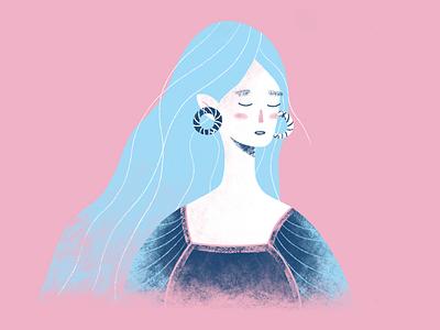 Elfy design characterdesign character girl texture elfy procreate illustration