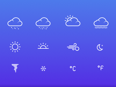 Weather Icons - Sketch Freebie cloud icons freebie sun rain wind moon snowflake sketch free weather icon design