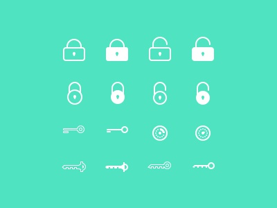 Password icons password icon iconset lock unlock key