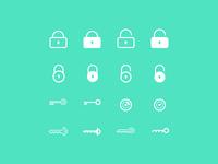 Password icons