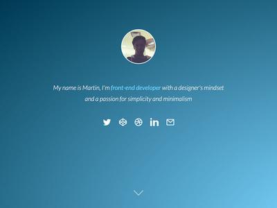 Portfolio portfolio minimalism website frontend development