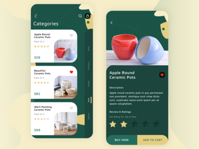Flower App Screen Design