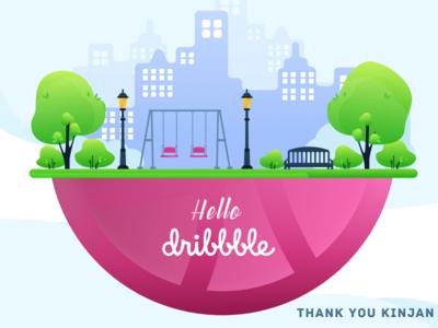 Hello Dribbble...........!