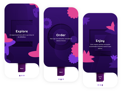 Onboarding Exploration Color Option application design ios flowerapp flower branding exploration onboarding ui blue ux ui design mobile ui design app design typography illustration mobile onboarding appdesign app wvelabs