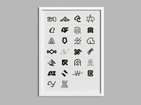 AA — monogram Poster