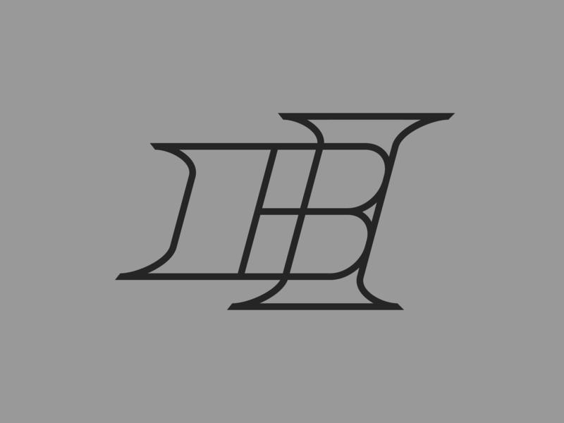 BH — monogram flat lettering illustrator identity vector typography type monogram logo monogram minimal logo a day logo design branding