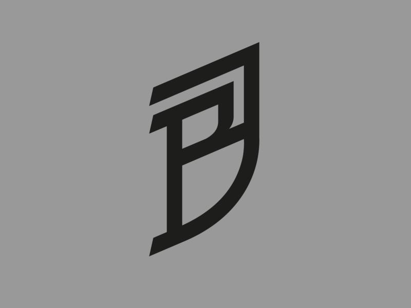 BJ — monogram flat lettering illustrator identity vector typography type monogram logo monogram minimal logo a day logo design branding