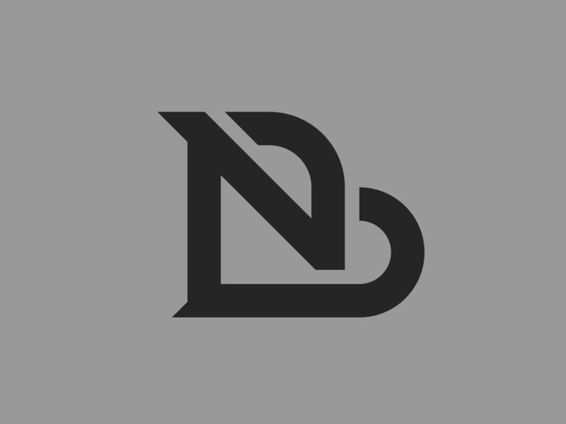 BN — monogram flat lettering illustrator identity vector typography type monogram logo monogram minimal logo a day logo design branding