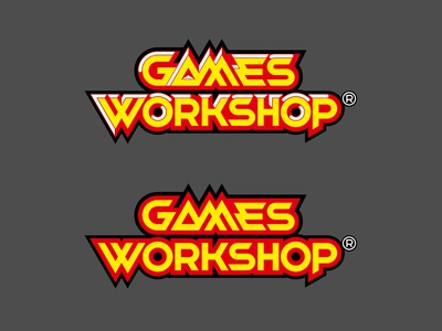 Games Workshop Redesign redesign concept tabletop 80s style 3d lettering vector illustrator identity typography logo a day type logo branding design