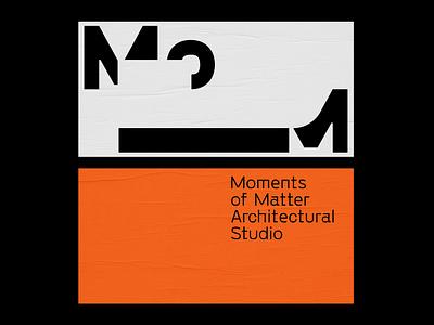 Moments of Matter — Architectural Studio Logo Application flat lettering monogram logo monogram vector illustrator identity typography minimal logo a day type logo branding design