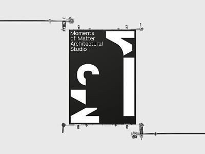 Moments of Matter — Architectural Studio Logo Application poster mockup flat monogram logo monogram vector illustrator identity typography minimal logo a day type logo branding design