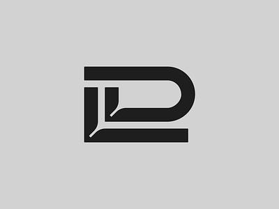 DL — Monogram flat lettering monogram logo monogram vector illustrator identity typography minimal logo a day type logo branding design