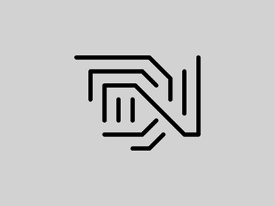 DN — Monogram flat lettering monogram logo monogram vector illustrator identity typography minimal logo a day type logo branding design