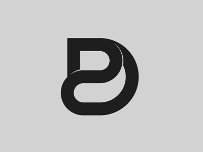 DP — Monogram flat lettering monogram logo monogram vector illustrator identity typography minimal logo a day type logo branding design