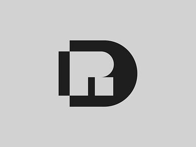 DR — Monogram monogram logo monogram vector illustrator identity ui illustration typography minimal logo a day type logo branding design