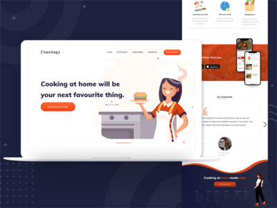 Marketing Page Design for Cravings App
