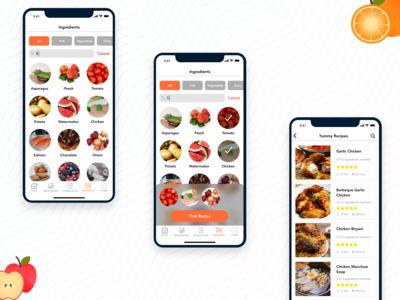 Select Ingredients iOS Design For Cravings