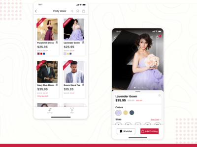 Product Detail Screens for Swanky App