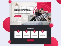 Concept of landing page for residential company