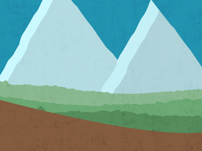 Landscape textured illustration nature illustration vector simple nature illustration minimal