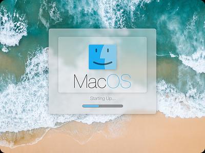 Mac OS 7 Big Sur macintosh apple loading bar macos redesign glass simple ui
