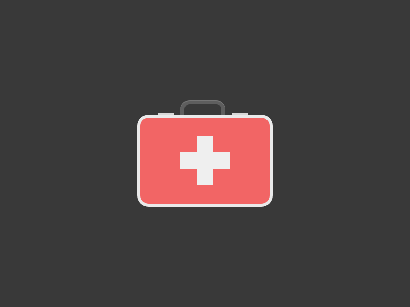 First Aid Kit assistance ouch treatment medical injury icon emergency