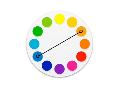 Color Wheel art complementary colors design icon