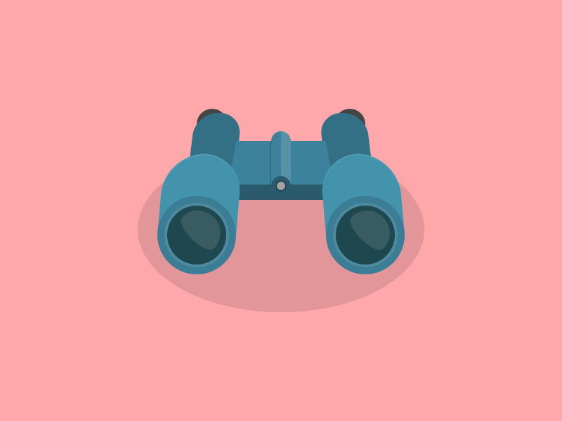 Binoculars simple sight icon seek find look search