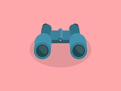 Binoculars simple sight icon seek find look search
