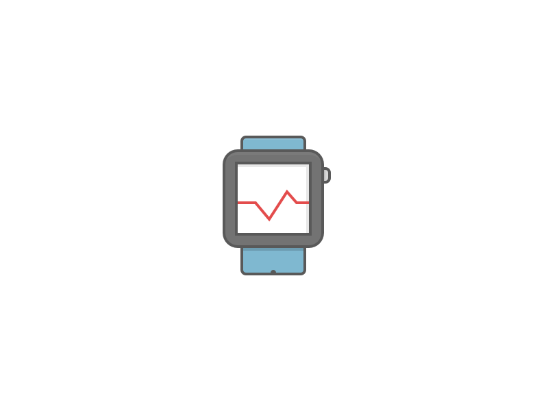 Health Tracking flat icon medical healthy smartwatch