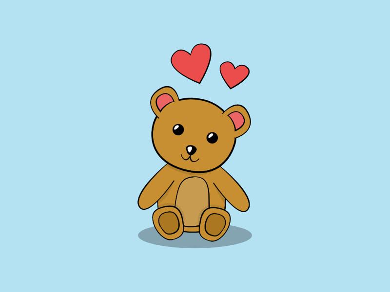 Teddy Bear stuffed animal toy hearts adorable cute teddy bear
