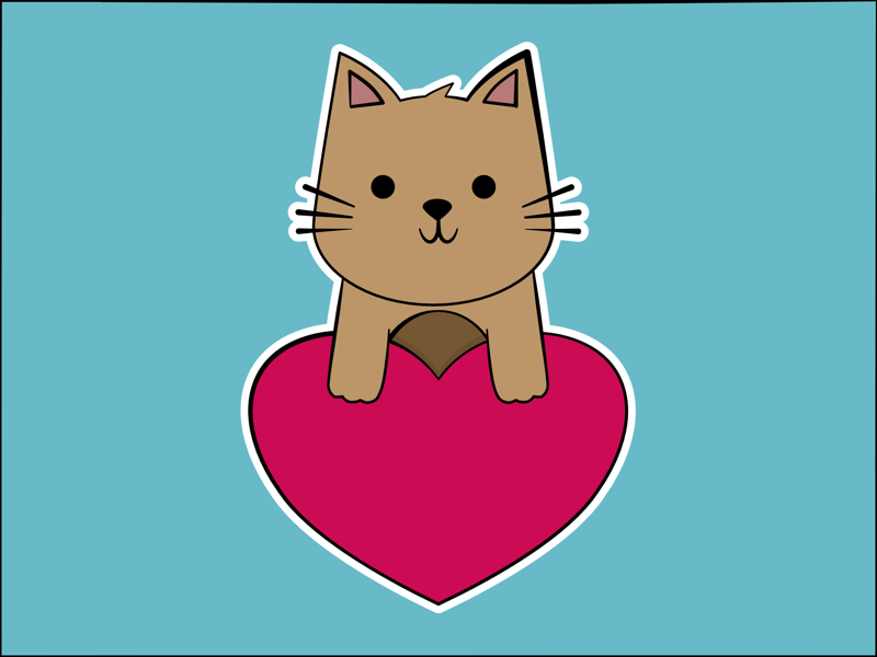 With Love From Cat dawww illustration vector kitten adorable cute