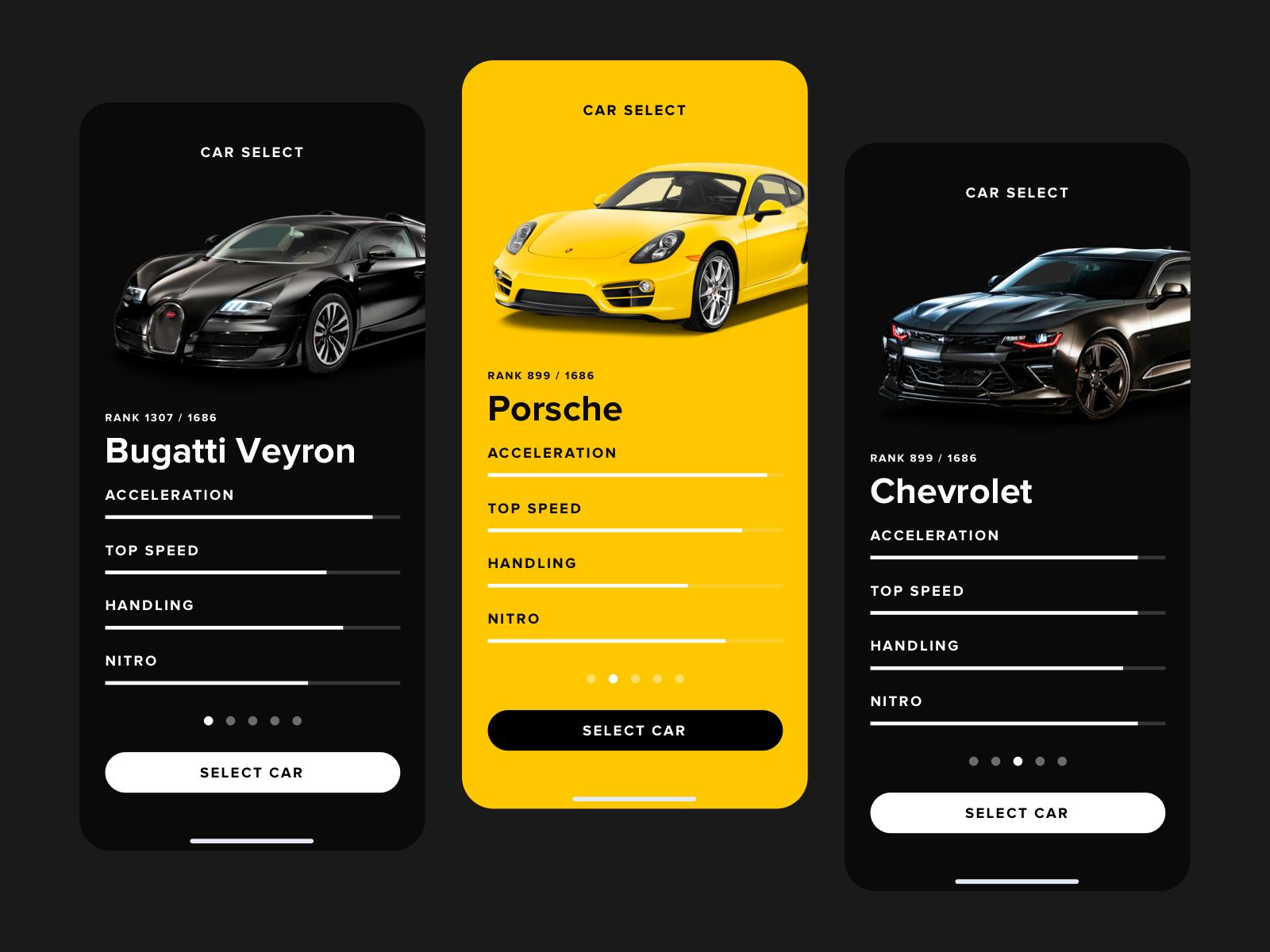 Car Select UI