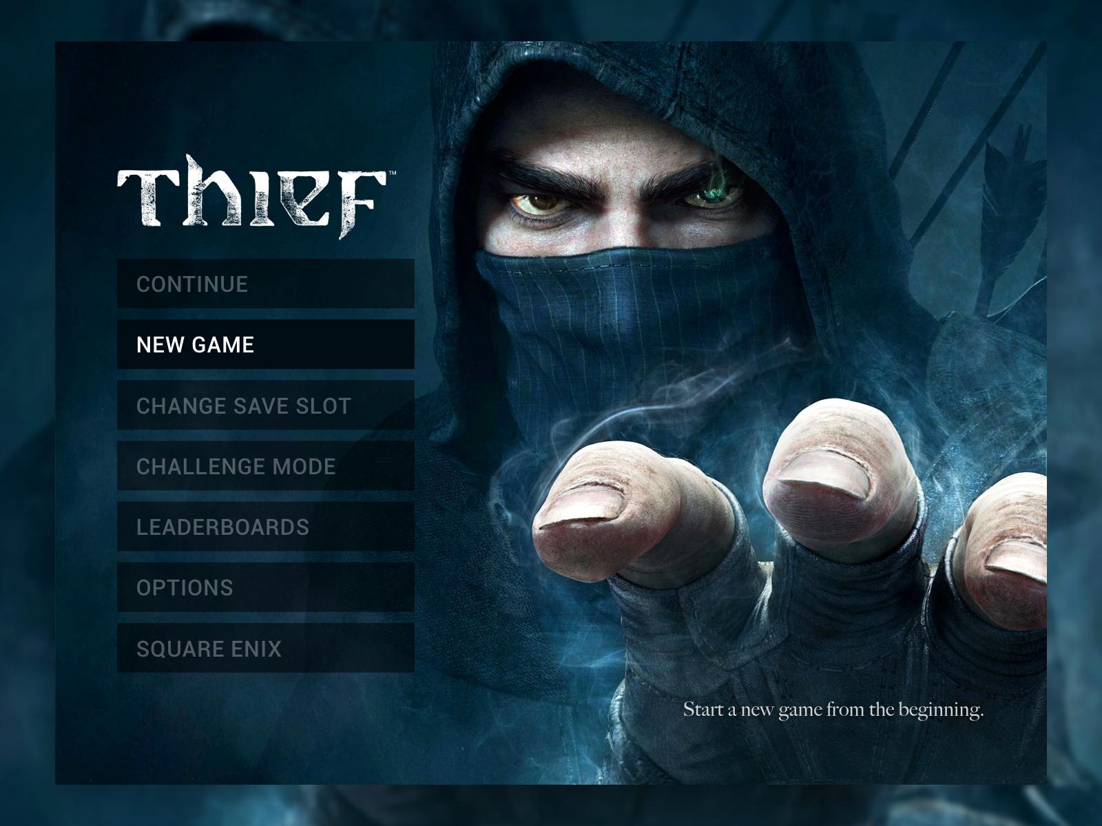 Thief Main Menu UI